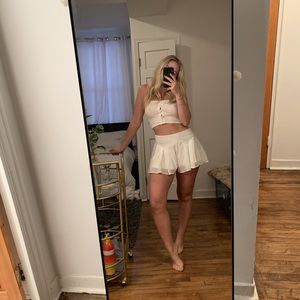 White flowy shorts from LF